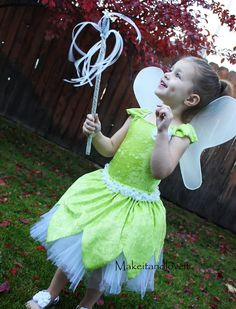 Tinker bell dress-up tutorial using a swimsuit.