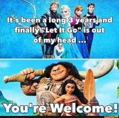 57 Freshly Harvested Savage Memes 57 Freshly Harvested Savage Memes,ASprüche und Ähnliches 49 – Meme about how Moana is replacing that annoying song from frozen. Related Funny Disney Memes Any Fan Will Love. Funny Disney Jokes, Crazy Funny Memes, Funny Puns, Really Funny Memes, Stupid Funny Memes, Funny Relatable Memes, Hilarious, Funny Movie Memes, Disney Humor