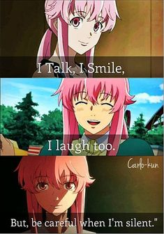 Anime Cosplay Anime:Mirai nikki by lilian Anime Meme, Manga Anime, Me Anime, Girls Anime, Anime Art, Otaku Anime, Yandere Girl, Yandere Anime, Asuna