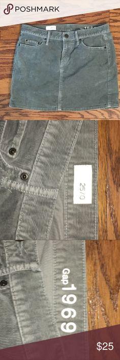 Gap Grey Corduroy Skirt In good condition GAP Skirts