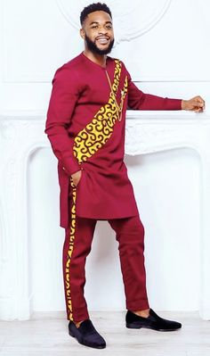 African Wear Styles For Men, African Shirts For Men, African Attire For Men, African Outfits, African Dress, Nigerian Men Fashion, African Men Fashion, Mens Fashion, Dashiki For Men