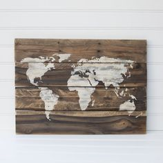 Rustic wood world map rustic decor farmhouse decor rustic nursery world map rustic wooden sign made from reclaimed by aceandavy gumiabroncs Images
