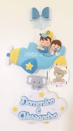 Felt Crafts, Diy And Crafts, Christmas Angels, Christmas Ornaments, Baby Deco, Felt Banner, Baby Mobile, Felt Decorations, Name Banners