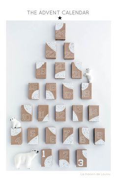 So Simple. So beautiful. . Such an easy Advent Calendar to make.