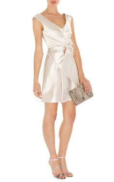 Karen Millen DN089 Niedliches Kleid Mit White Schleife