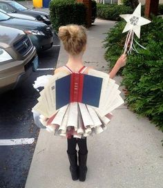 From Books Rock My World -- This is the Diction-Fairy... via MightyGirl one of the best book inspired costumes I have ever seen.  DISCLAIMER: No books were harmed in the making of this costume