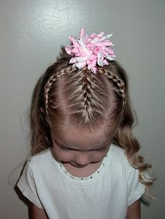 Shaunell's Hair: Little Girl's Hairstyles -3 Braids Up Top with Corkscrew Curls 15-20 min