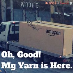 Oh, good! My yarn is here.