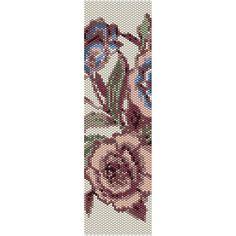 Vintage Flowers 7 Peyote Bead Pattern, Bracelet Cuff, Bookmark, Seed Beading Pattern Miyuki Delica Size 11 Beads - PDF Instant Download by SmartArtsSupply on Etsy
