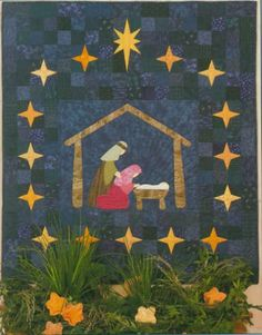 Nativity Quilt: Mom made this
