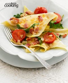 Italiano Ravioli with Tomato & Bacon #recipe