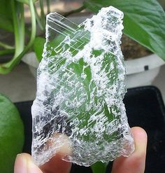 Natural-super-transparent-ice-clear-SELENITE-slab-healing-crystal-China-1350
