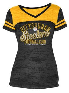 Pittsburgh Steelers Women s Touch Coop II Burnout T-Shirt Steelers Gear 711551896
