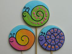 Snail cookies- no special cookie cutter, just a round.