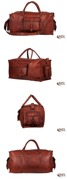 Mens Leather Duffle Bag 22""