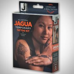 The NEW Jagua Temporary Tattoo Kit is now available from Jacquard's dealers!!! Fool your friends & test drive tattoo ideas--Jagua tattoos last 1-2 weeks and LOOK REAL!!! Safe, non-toxic and 100% natural, made from fruit juice and easy to use.
