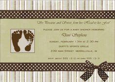11 best baby shower invitation footprint designs images on pinterest footprint baby shower invitation design filmwisefo