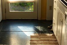 black concrete floors