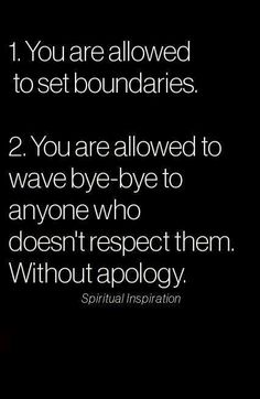 You are allowed to say goodbye to people and situations that don't edify you!