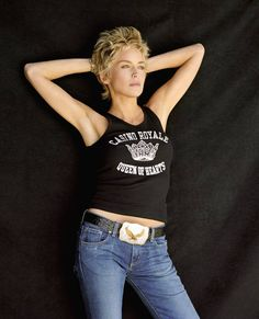 I like Sharon Stone's hair in this image