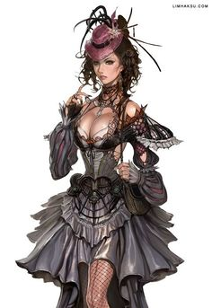 kinda steamy: Female Wizard - character concept art by Limha Lekan for Granado… Lady Mechanika, Moda Steampunk, Steampunk Kunst, Steampunk Fashion, Steampunk Artwork, Steampunk Dress, Steampunk Wings, Steampunk Outfits, Victorian Steampunk