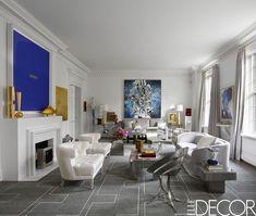 Art-Filled Modern Living Room - ELLEDecor.com