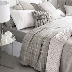 Flannel Checked Bedding - Bed Linen - Bedroom | Zara Home