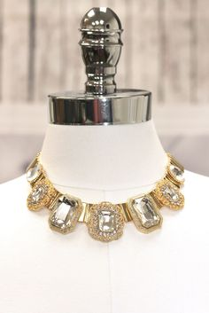 Metal Choker With Large Stones