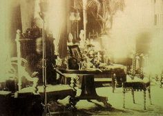 Was that His Favorite Chair? This was taken by the photographer after the death of Lord Combermere in 1891.  while family wanted some photographs clicked, the post-development results showed something astonishing- Lord Combermere's ghost seemed sitting on his favorite chair!  10 Horrifying Ghost Photos and Their Stories | TodayOutlook.com