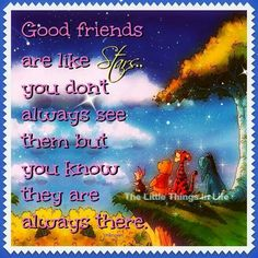 Winnie the pooh - Friends are like stars quote
