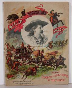 original 1893 Buffalo Bill's Wild West Show program and advance courier