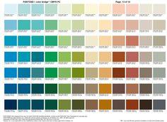 Carta color Pantone 13   |   Color Pantone chart 13