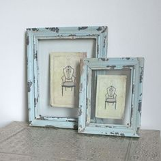 distressed frame use gold Martha stewart paint Distressed Decor, Distressed Picture Frames, Photo Picture Frames, Eclectic Furniture, Unique Furniture, Refurbished Furniture, Old Frames, Frames On Wall, Painted Frames