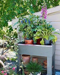 #garden #potting #bench