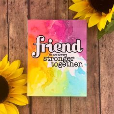 Friendship Cards, Simon Says Stamp, Pretty Cards, Card Kit, Distress Ink, Homemade Cards, Greenery, March, Paper Crafts