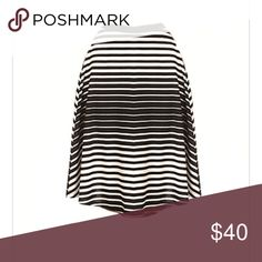 Stripe Midi Skirt Classic skirt that can be worn with a blazer, t-shirt, jean shirt, etc. Also, it can be worn year round by layering with tights. Plus, stripes are right on trend. NWOT. 2x and 3x available,too. Skirts Midi