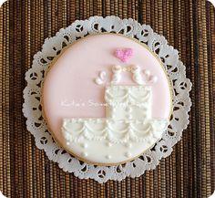 Love Bird Wedding Cake Cookie by Katie's Something Sweet, via Flickr