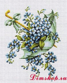 Embroidery set Luca-S B112z Blue Umbrella