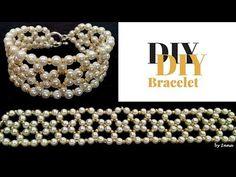 Elegant pearls bracelet. Diy beaded bracelet tutorial - YouTube