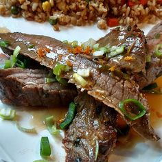Do you like to do themed dinner nights?? We love to! Tonights theme was Asian...orange skirt steak with fried rice...the steak was uber tender and the orange sauce was perfectly sweet! Recipe will be posted on my blog soon! #foodie #thekitchenismyhappyplace #blogger #mealplanning