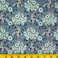 Juliana Horner Quilt Fabric- Wild Flower Blue - bought this for New Look 6203