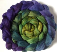 Hand Dyed Polwarth or merino roving for spinning or felting Merlin 3.5ozs Pre-Order