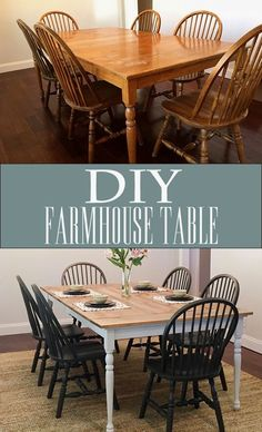 Search for farmhouse table designs and dining room tables now. this modern farmhouse dining room table is the perfect addition to any dining table & space. Refurbished Furniture, Furniture Makeover, Diy Furniture, Furniture Stores, Folding Furniture, Furniture Outlet, Furniture Design, Discount Furniture, Refurbished Kitchen Tables