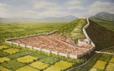 The Macedonian city of Philippi, Greece during the Roman Period in the Century AD Fantasy City, Fantasy Castle, Fantasy Places, Ancient Greek City, Ancient Rome, Ancient Greece, Ancient Aliens, Ancient Greek Architecture, Historical Architecture