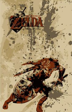 Zelda: Ocarina of Time Poster....um I hate to say this but this is the Link graphic from Twilight Princess......just sayin.
