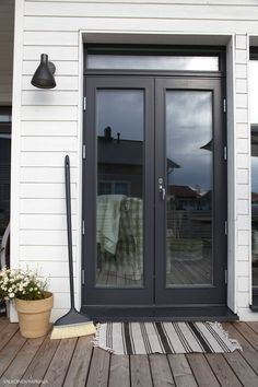 french doors in black - Google Search