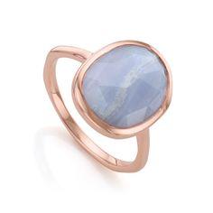 Monica Vinader 'siren' Medium Semiprecious Stone Stacking Ring In Rose Gold/ Blue Lace Agate Agate Jewelry, Agate Ring, Rose Jewelry, Jewelry Rings, Funky Jewelry, Stylish Jewelry, Silver Jewellery, Jewelry Ideas, Jewelry Box