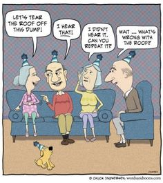 Old Folks Jokes and Cartoons -