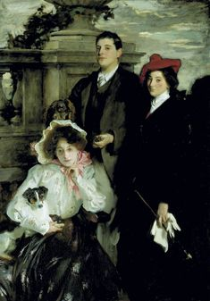 Hylda, Almina and Conway, Children of Asher Wertheimer - John Singer Sargent - (American: 1856–1925)