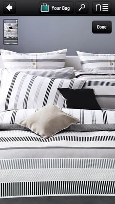 Black and White Stripe Bed Linen from Next